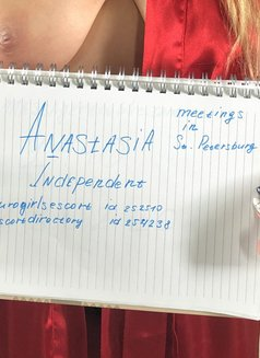 Anastasia - escort in Saint Petersburg Photo 1 of 27