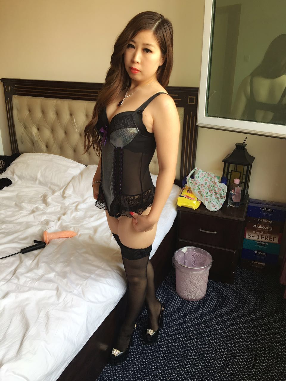 sexy japanese escort strap